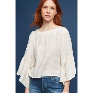Anthropologie | Floreat Bell Sleeve Blouse